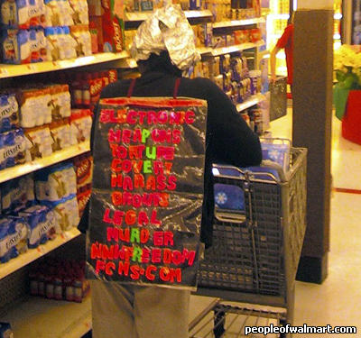 Walmart shopper wearing AFDB