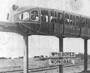 William H. Boyes monorail prototype, from monorails.org