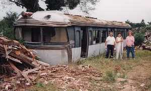 Discarded monorail train