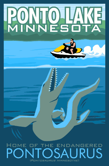 Ponto Lake, Minnesota, Home of the endangered Pontosaurus