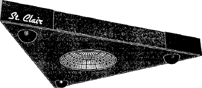 St. Clair Triangular Spacecraft, FIG. 1