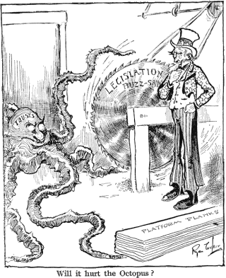 time machine cartoon. political cartoon by Ryan