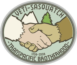 Yeti-Sasquatch Transpacific Brotherhood emblem