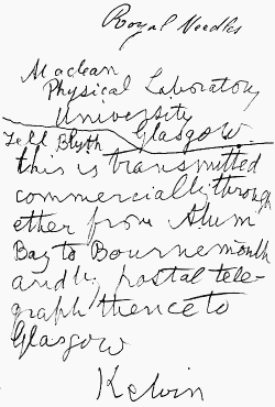 Correspondence of Lord Kelvin