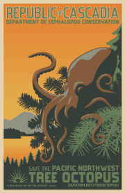 pacific northwest tree octopus poster  The Cascadian WPA...